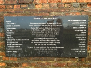 Repatriation Memorial, Southampton