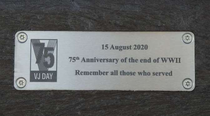 New VJ Day Commemorative Bench Installed